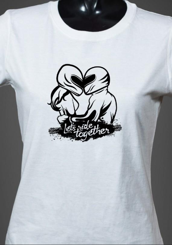 Moto Couple - Dámske Tričko