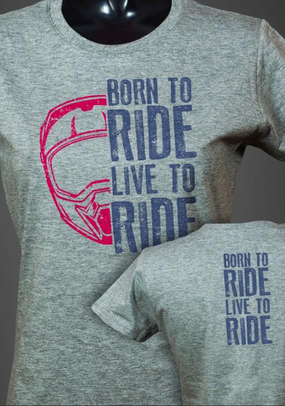 Born To Ride - Dámske Tričko