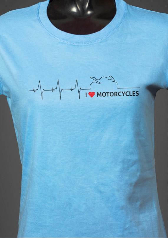 Moto Heartbeat - Dámske Tričko
