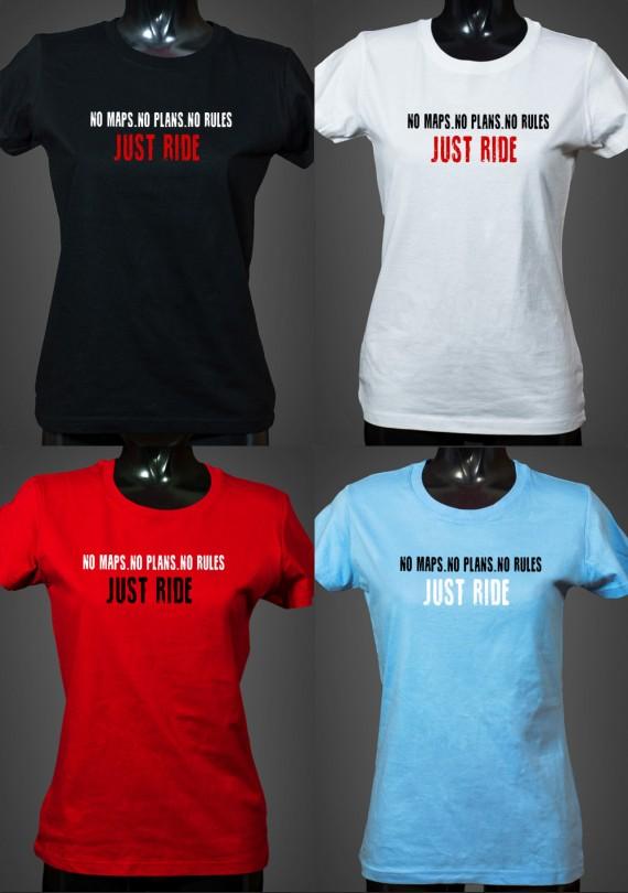 Just Ride - Dámske Tričko
