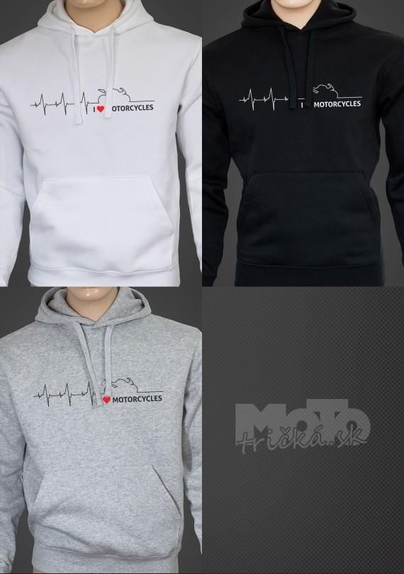 Moto Heartbeat - Pánska Mikina