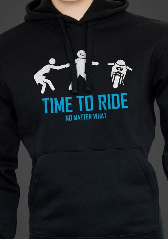 Time to Ride - Pánska Mikina