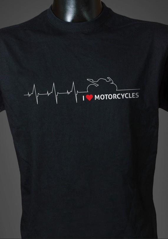 Moto Heartbeat - Pánske Tričko