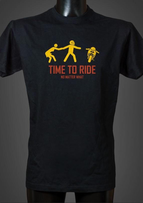 Time To Ride - Pánske Tričko