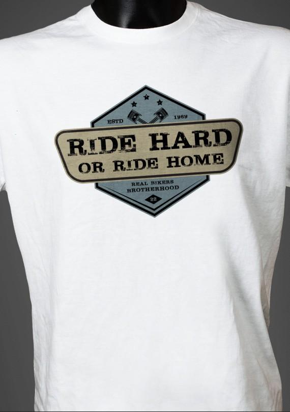 Ride Hard - Pánske Tričko